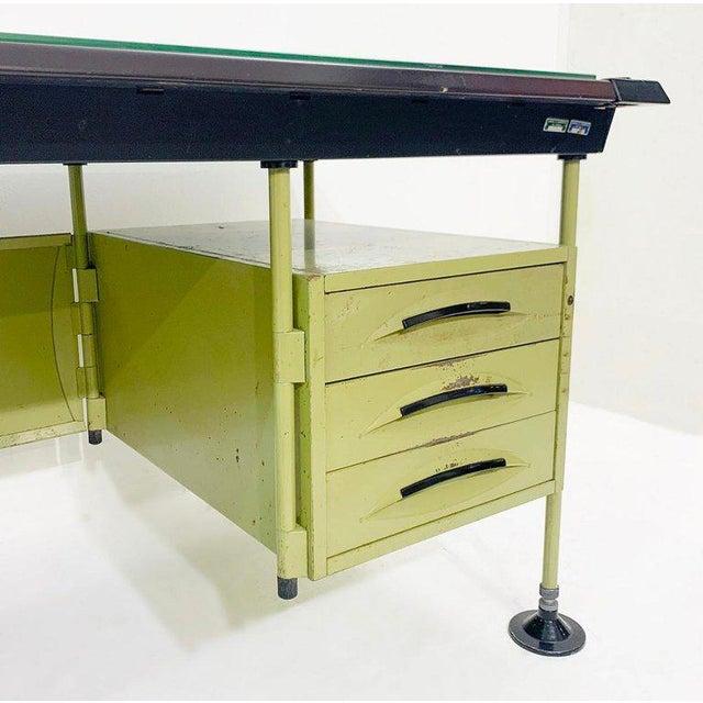 Metal Italian Modernist Spazio Desk by Studio Bbpr for Olivetti - 1959 For Sale - Image 7 of 9
