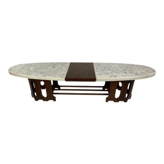 1950s Danish Modern Harvey Probber Marble-Top Coffee Table For Sale