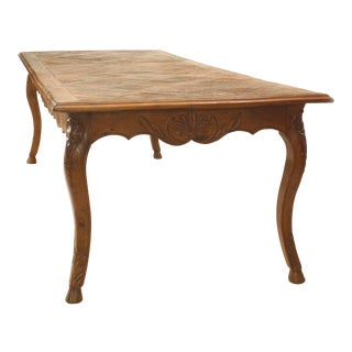 Late 18th or Early 19th Century French Provincial Oak Dining Table For Sale