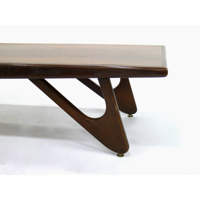 4da73a13c040 Mersman Mid-Century Modern Adrian Pearsall Attributed Walnut Surfboard Coffee  Table For Sale - Image