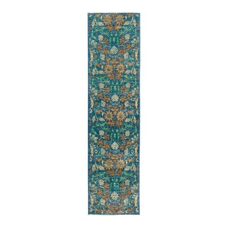 """Eclectic Hand Knotted Runner Rug - 2' 6"""" X 9' 7"""""""
