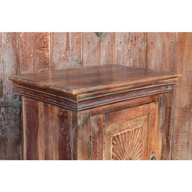 Indo-Portuguese Sunburst Nightstand For Sale - Image 9 of 12