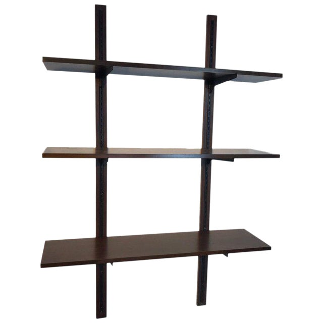 Danish Modern Rosewood Adjustable Shelves For Sale