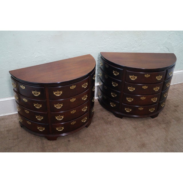 Demilune 1/2 Round Chests - Pair - Image 2 of 8