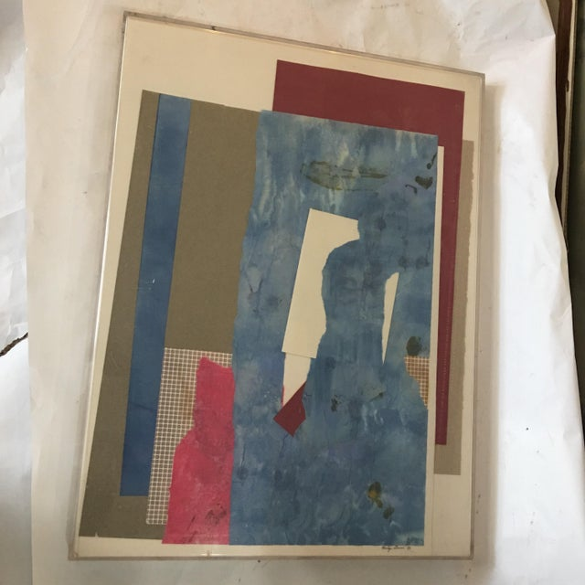 Mitzi Levin Abstract Collage, 1983 - Image 2 of 10
