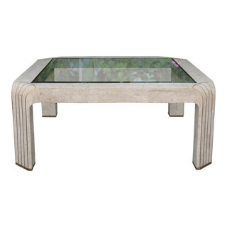 Maitland Smith Coffee Table W/ Glass Top