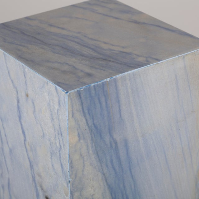 Early 20th Century A Rare Italian Blue Marble Pedestal For Sale - Image 5 of 5