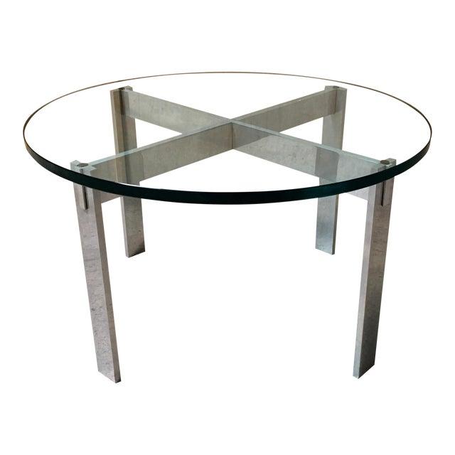 Paul Mayen for Habitat Aluminum X Base Side Table For Sale