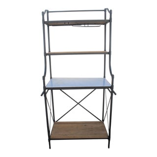 Williams-Sonoma Home Iron Bakers Rack with Marble Work Surface