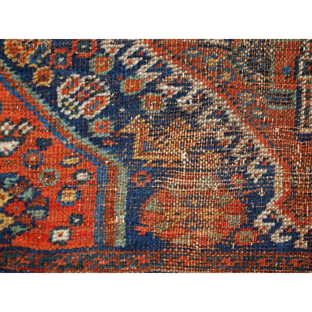 1910s Antique Persian Shiraz Rug - 3′9″ × 5′ - Image 8 of 11