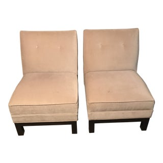 Modern Mitchell Gold Slipper Chairs- A Pair For Sale
