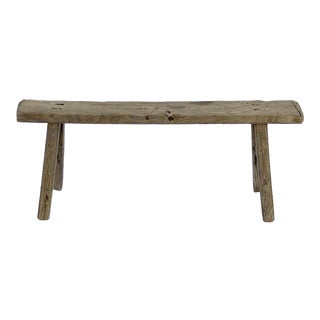 20th Century Antique Chinese Shandong Primitive Bench For Sale