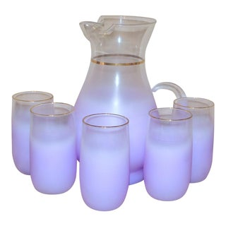 Vintage Purple Blendo Pitcher Set - Six Pieces For Sale