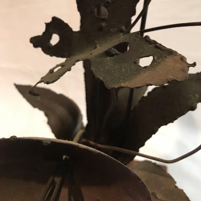 Brutalist Floral Metal Sculpture - Image 11 of 11