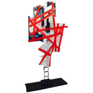 "BK Adam. I Am Art ""No Words"" - Steel Sculpture & Plastic 2014 For Sale"