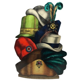 """Cappelli"" Tole Umbrella Stand by Piero Fornasetti For Sale"