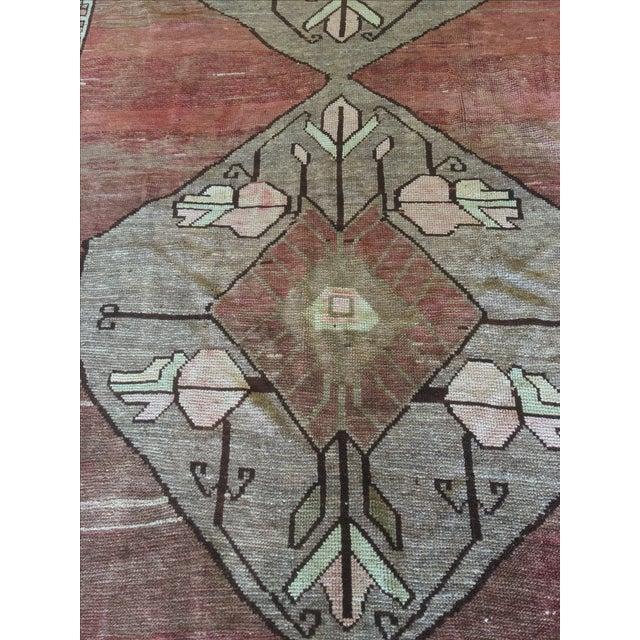 "Antique Turkish Oushak Runner - 5'7"" X 13'5"" - Image 5 of 11"