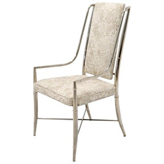 Imperial Dining Room Chair by Weiman / Warren Lloyd for Mastercraft in Chrome For Sale