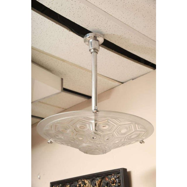 Art Deco Ceiling Fixture Signed Kovacs For Sale - Image 10 of 10