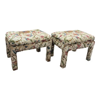 Mid-Century Vintage Ottoman Footstools - A PAir For Sale