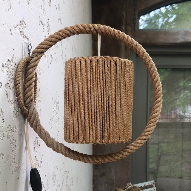 Rope Sconce Audoux Minet, Circa 1960 For Sale In Austin - Image 6 of 6