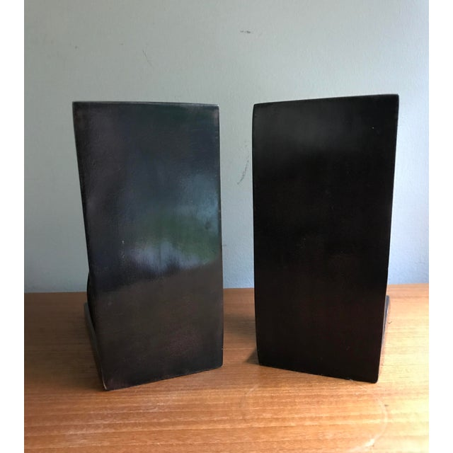 Brown Vintage Book Ends Cats - Polished Stone, a Pair For Sale - Image 8 of 9