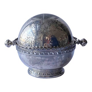 Early 20th Century Antique Silverplate Serving Dish For Sale