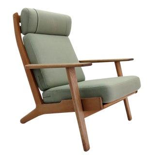 1950s Hans J. Wegner Ge 290 High Back Chair For Sale