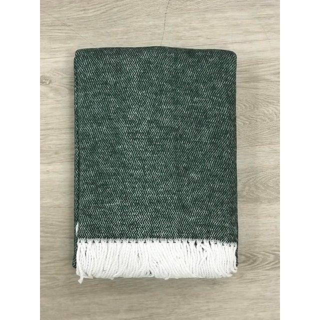 Textile Matouk Jade Pezzo Throw, Portugal For Sale - Image 7 of 7