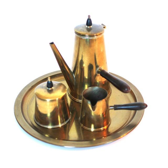Vintage Japanese Brass Tea Set - Image 1 of 4