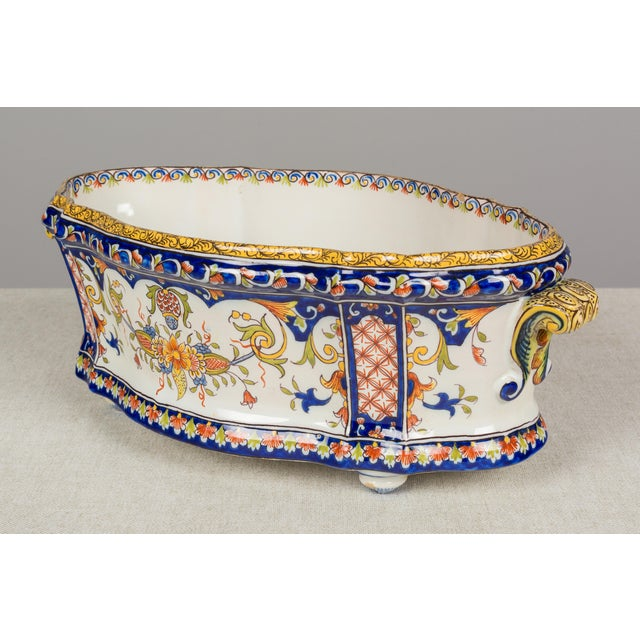 French 19th Century French Desvres Jardiniere For Sale - Image 3 of 10