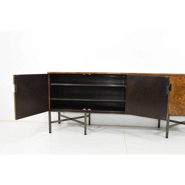 1970s Roger Sprunger for Dunbar Burled Olivewood Sideboard or Credenza For Sale - Image 5 of 13
