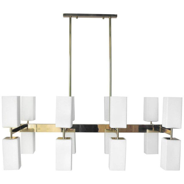 White Palazzo Chandelier by Fabio Ltd (2 Available) For Sale - Image 8 of 9