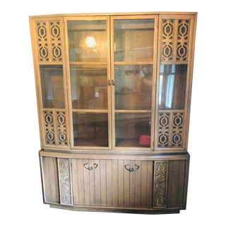 Vintage Kroehler China Hutch For Sale