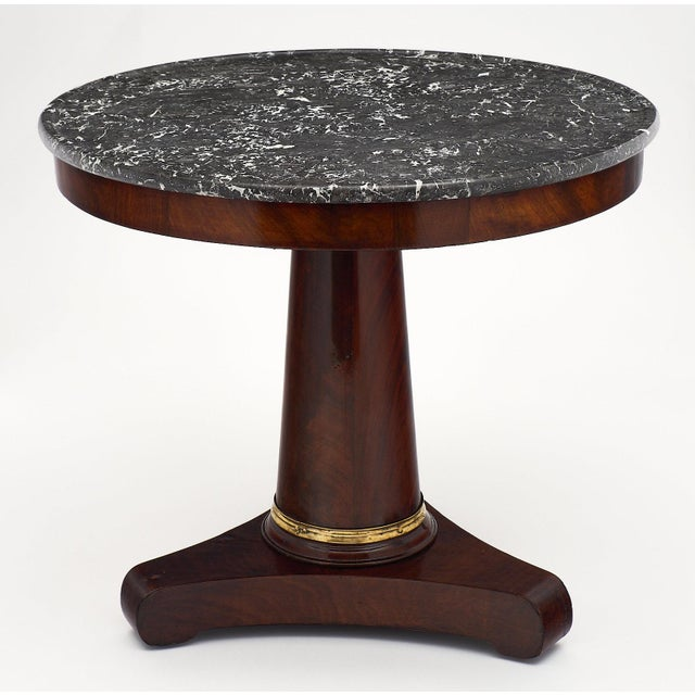 Empire Empire Period Gueridon Table With Gray Marble Top For Sale - Image 3 of 9