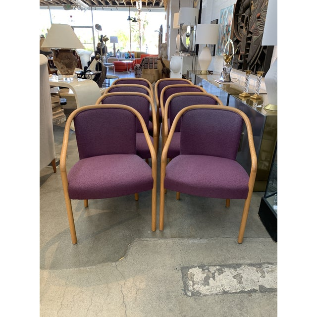 Brickel Associates for Arthur Elrod Dining Chairs in Plum - Set of 8 For Sale In Palm Springs - Image 6 of 12