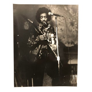 Original Signed Black & White Photo Jimi Hendrix For Sale