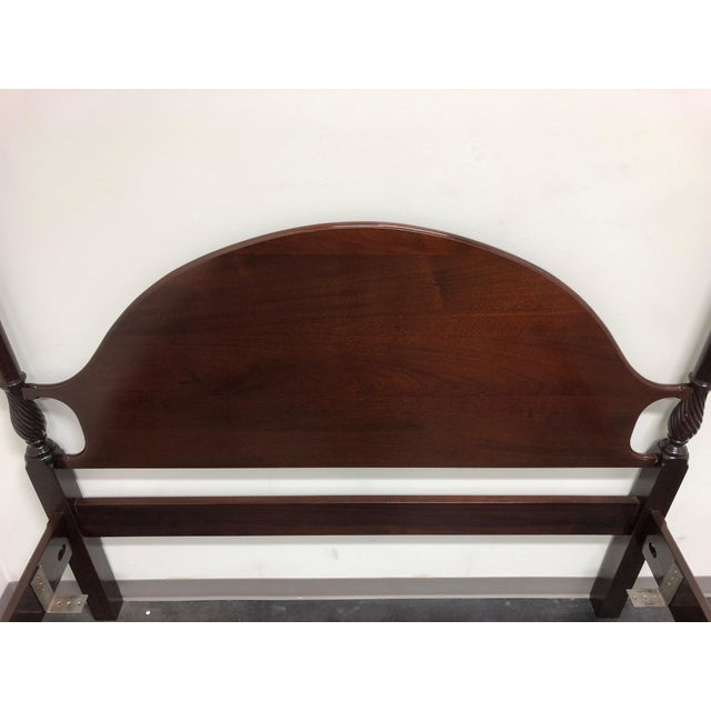 Councill Furniture Mahogany Queen Size Chippendale 4 Poster Bed W Open Talon Ball in Claw Feet For Sale - Image 4 of 13