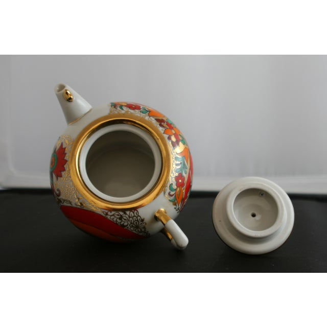 Russian Lomonsov Porcelain Rooster Teapot For Sale In West Palm - Image 6 of 7