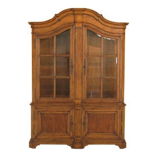 Ethan Allen Country French Beveled Glass China Cabinet