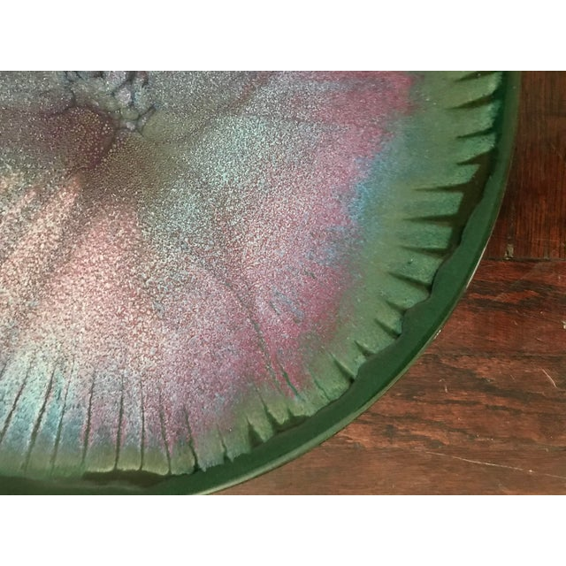 Abstract 20th Century Abstract Expressionist Hand Thrown Studio Pottery Platter For Sale - Image 3 of 6