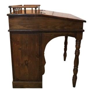 Vintage Built in Book Shelf Desk