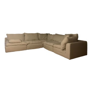 Restoration Hardware 5 Piece Cloud Couch For Sale