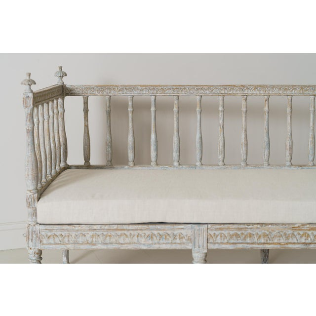Wood 19th Century Swedish Gustavian Period Sofa Bench For Sale - Image 7 of 12