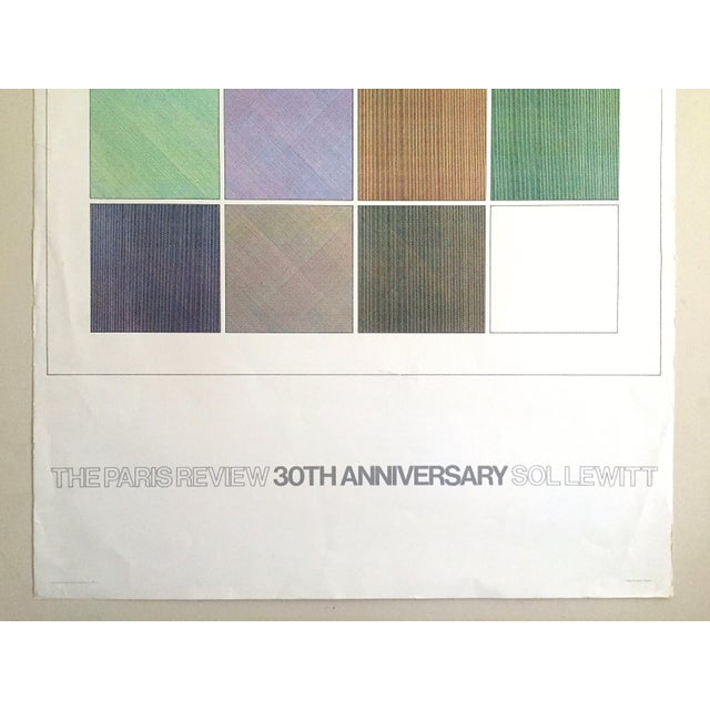 """Abstract Sol Lewitt Rare Vintage 1984 """"Paris Review 30th Anniversary"""" Original Silkscreen Print Limited Edition Poster For Sale - Image 3 of 13"""