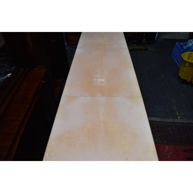 Resin Waterfall Parchment Console Table For Sale - Image 7 of 12