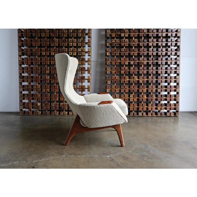 Fabric Adrian Pearsall for Craft Associates Wing High Back Chairs - a Pair For Sale - Image 7 of 13