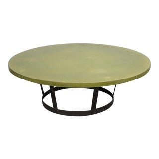 Contemporary Polished Concrete Coffee Table For Sale