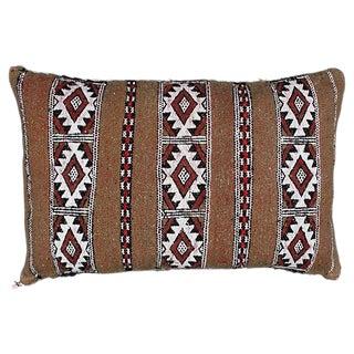 Diamond Striped Moroccan Berber Pillow For Sale