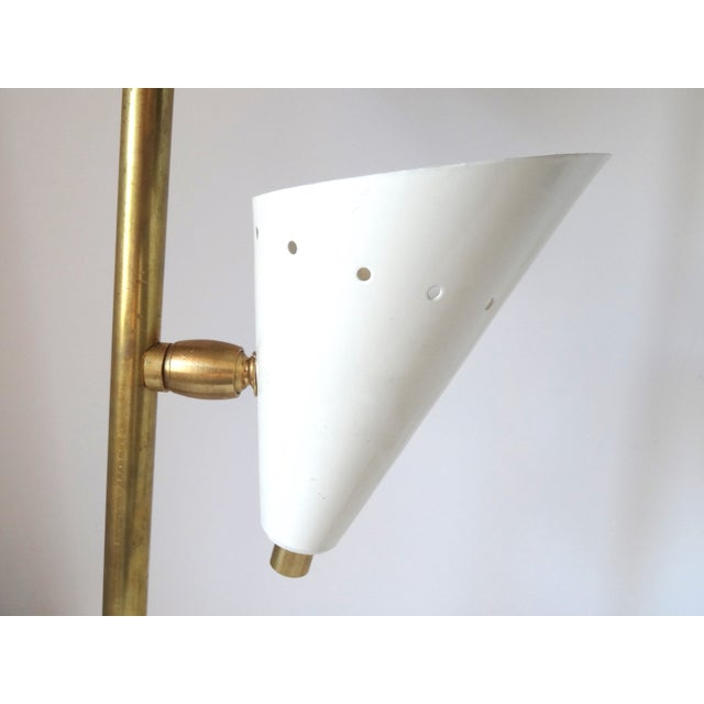Italian Brass & White Lacquered Lamps - A Pair - Image 6 of 6